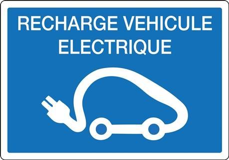Symbole borne de recharge